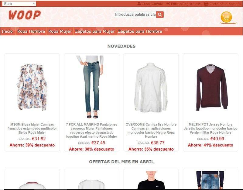 Woop.es Tienda Falsa Online Moda