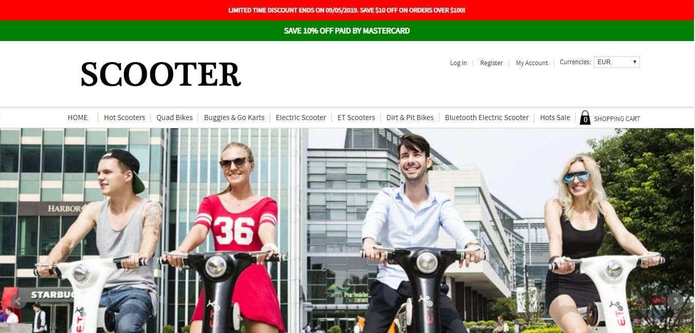 Costumingmallshop.com Tienda Falsa Online Scooters