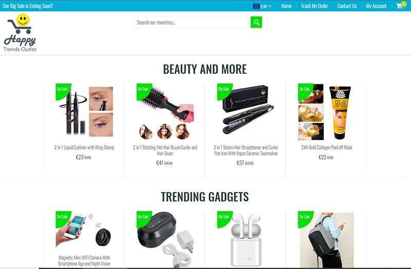 happytrendsoutlet.com tienda online falsa multiproducto