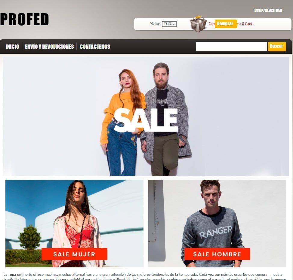 Profed.es Tienda Falsa Online Moda