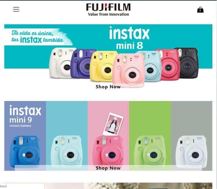Salegreatcameras.site Tienda Falsa Online Fujifilm