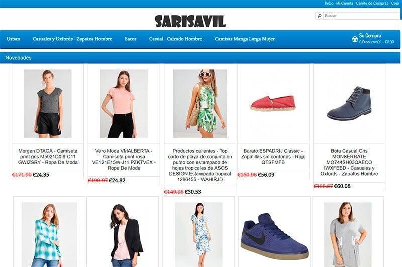 Sarisaville.com Tienda Falsa Online Moda