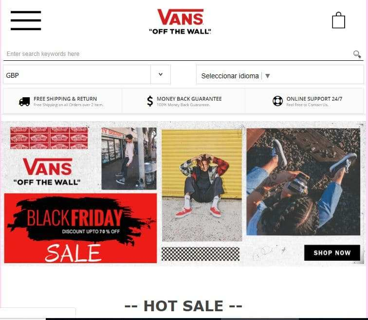 vans us website