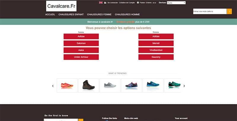 Cavalcare.fr Tienda Falsa Online Zapatillas