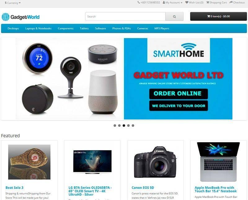 Gadgetworldltd.com Tienda Falsa Online Gadgets