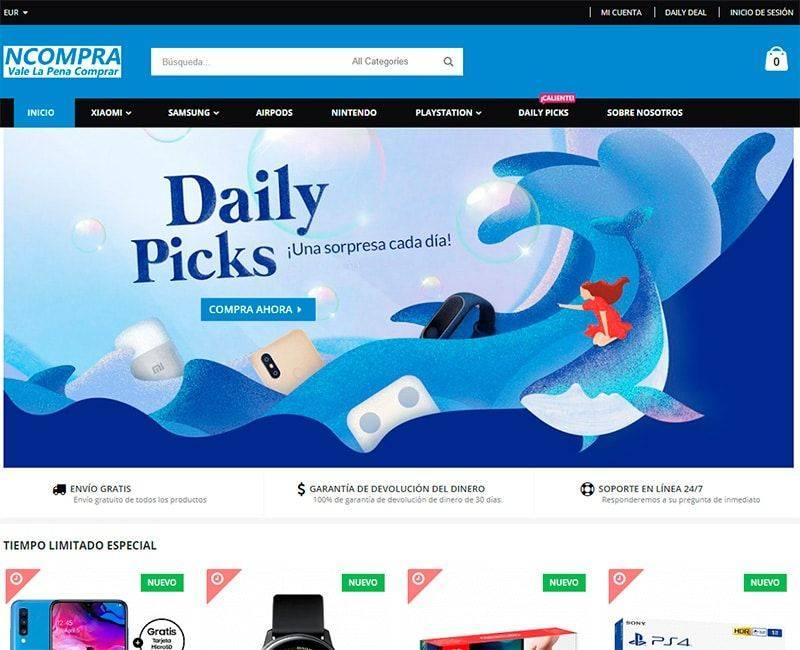 Ncompra.com Tienda Falsa Online Electronica