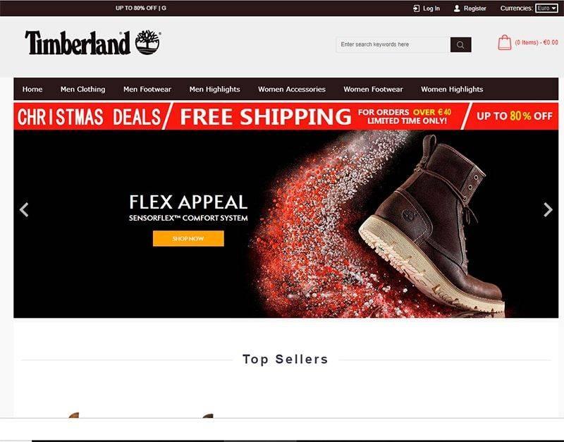 Timbeshops.com Tienda Online Falsa Timberland