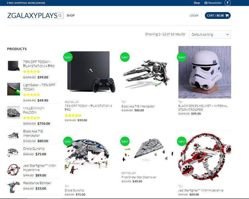 Zgalaxyplays.com Tienda Falsa Online Juguetes