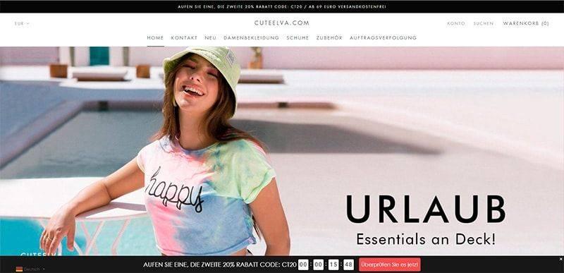 Cuteelva.com Tienda Falsa Online Moda Mujer