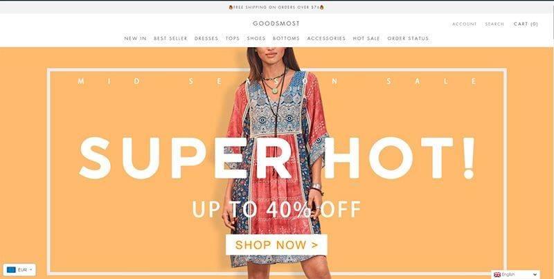goodsmost.com tienda online falsa de moda
