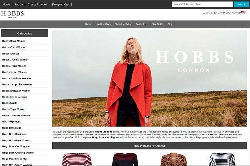 Hobbsfashiondresses.com Tienda Falsa Online Hobbs