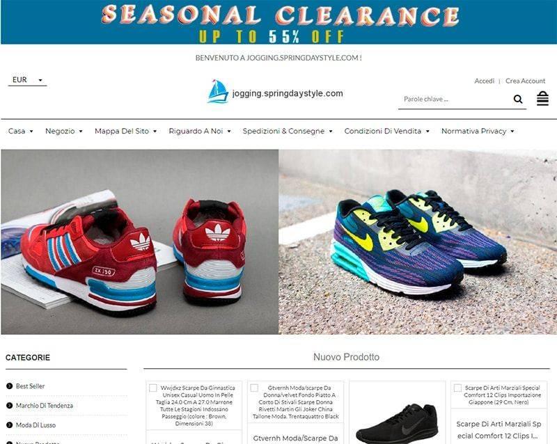 Jogging.springdaystyle.com Tienda Falsa Online Sneakers Adidas Nike