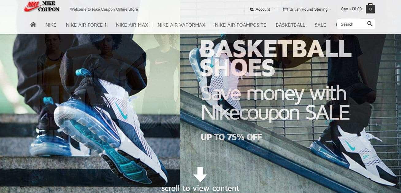 Nikecoupon.com Tienda Falsa Online Nike
