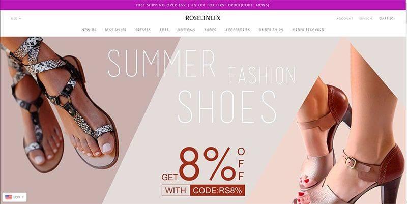 Roselinlin.com Tienda Falsa Online Moda