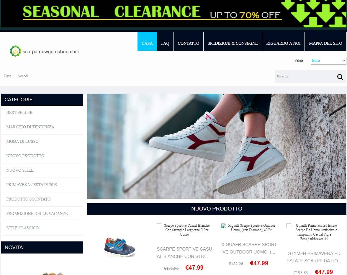 Scarpa.nowgotoshop.com Tienda Falsa Online Sneakers