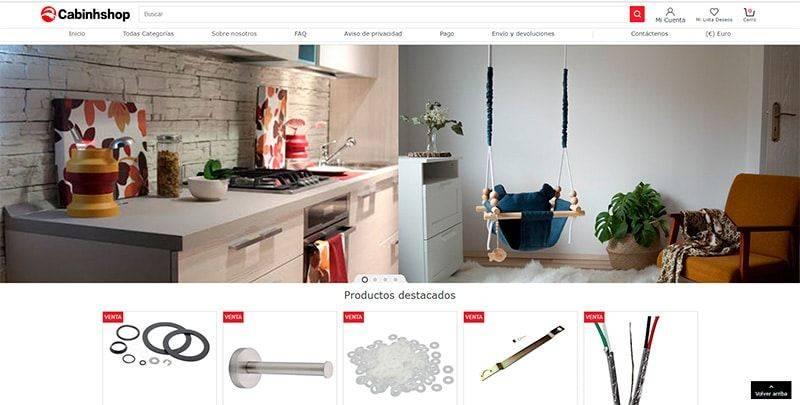 Cabinhshop.com Tienda Online Falsa Productos Hogar Decoracion