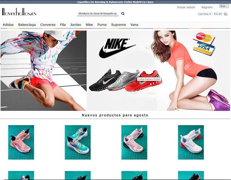 ilovechollos.es tienda online falsa de zapatillas