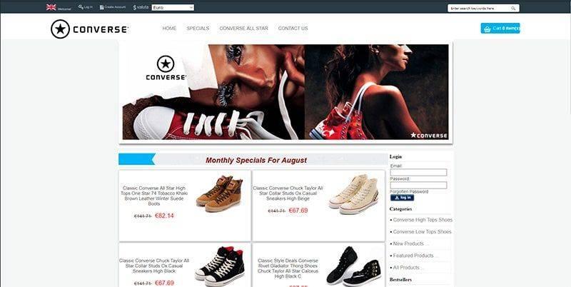Lockwoodsmarina.com Tienda Falsa Online Converse