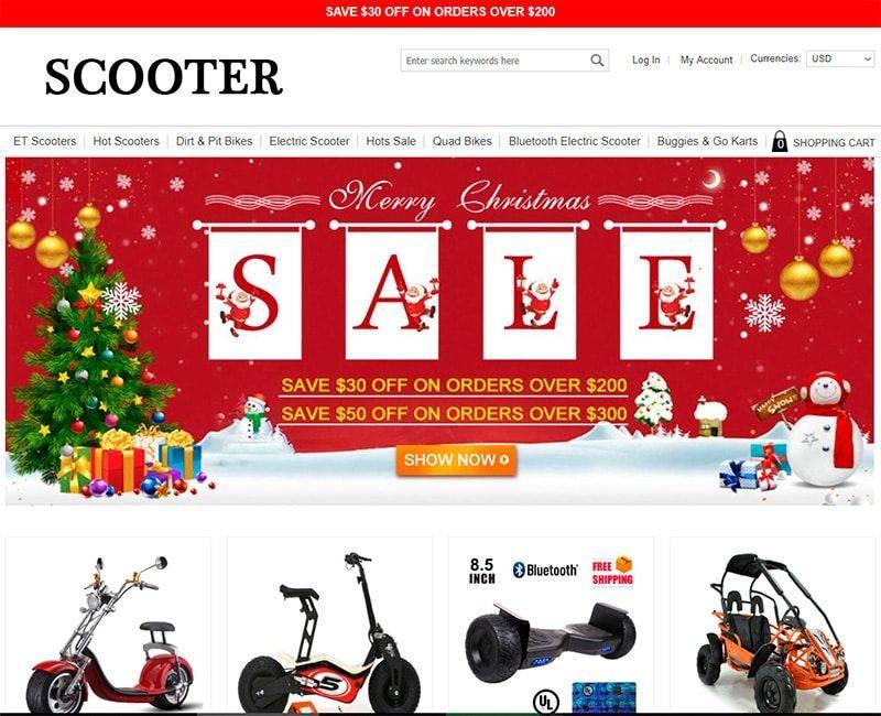 Loutane.com Tienda Falsa Online Scooters
