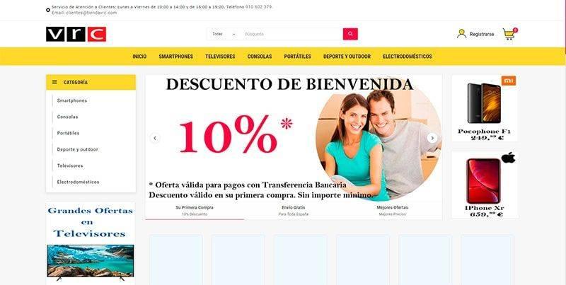 Tiendavrc.com Posible Tienda Online Fraudulenta Electronica
