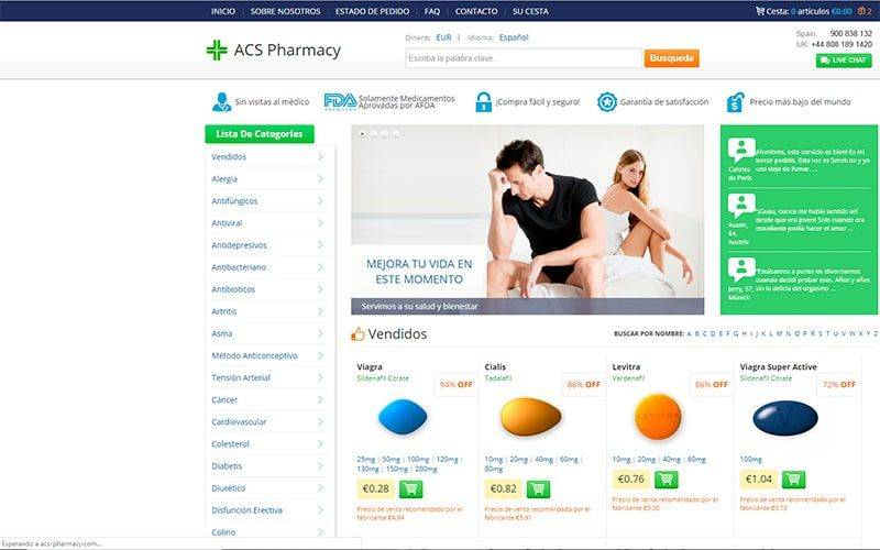 Acs Pharmacy.com Tienda Online Falsa Medicamentos