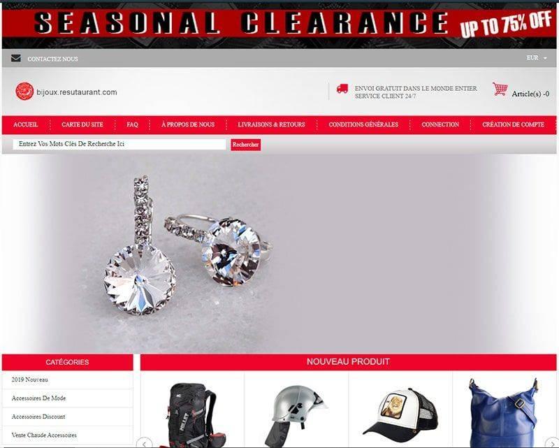 Bijoux.resutaurant.com Tienda Online Falsa Multiproducto