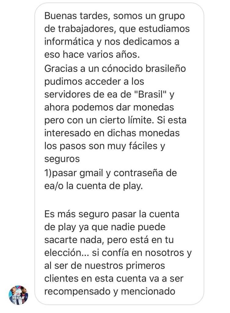 Estafa Monedas Fifa 03