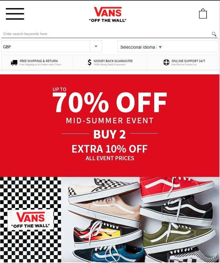 vansshoes.shop tienda online falsa Vans