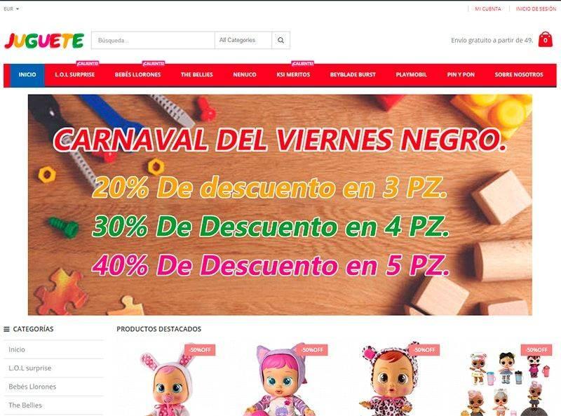 Ajuguete.com Tienda Online Falsa Juguetes