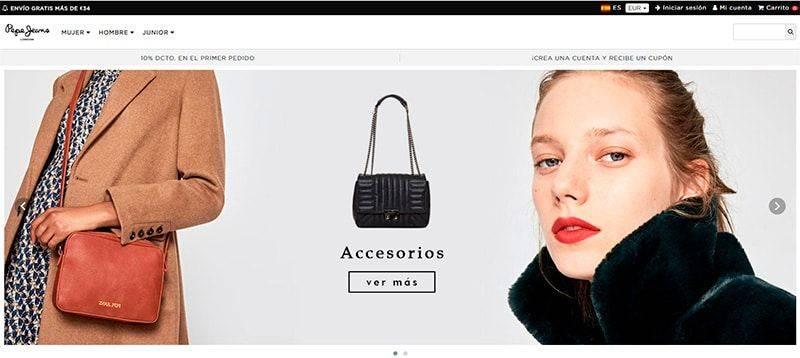 Pepejeansees.online Tienda Online Falsa Moda Pepe Jeans