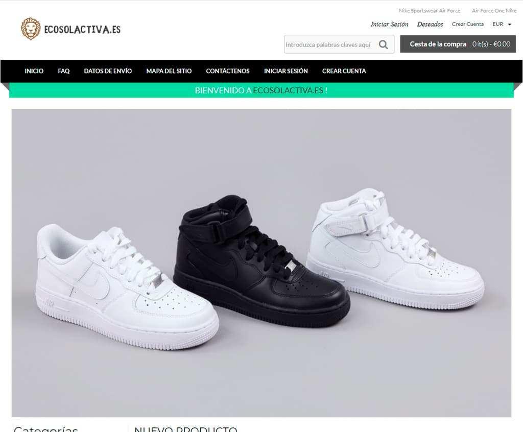 Ecosolactiva.es Tienda Falsa Online Nike