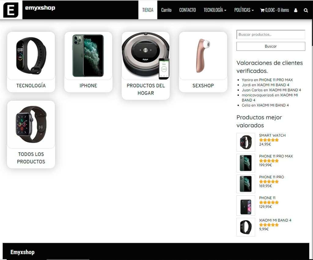 Emyxshop.com Tienda Falsa Electronica