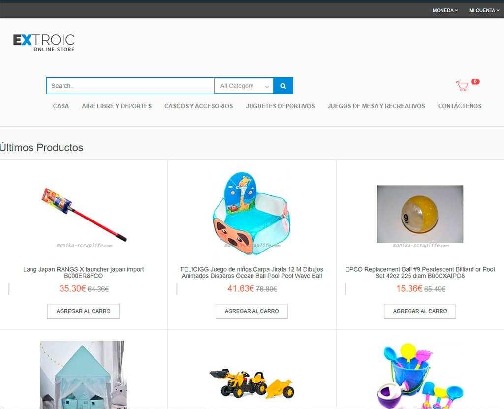 Monika Scraplife.com Tienda Online Falsa Juguetes