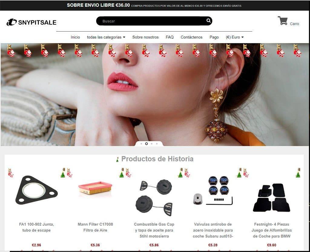 Snypitsale.com Tienda Online Falsa Multiproducto