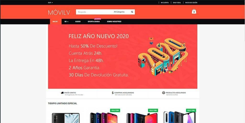 Movilv.com Tienda Online Falsa Smartphones Xiaomi