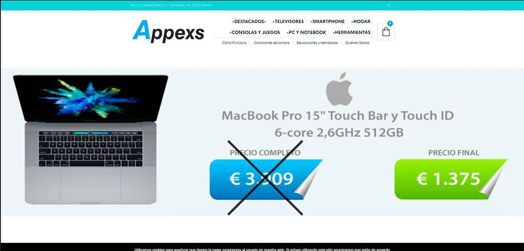 Appexs.com Tienda Online Falsa Tecnologia