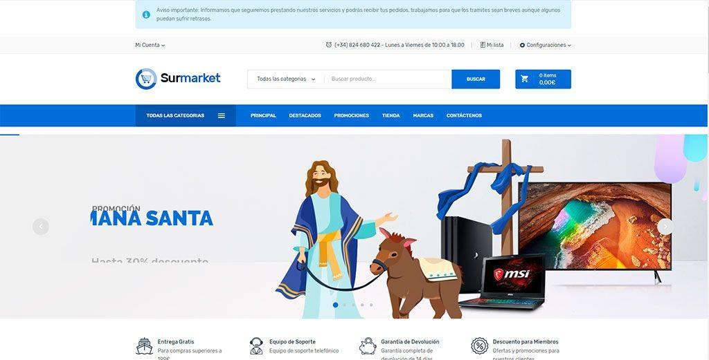 Surmarket.es Tienda Online Falsa Tecnologia
