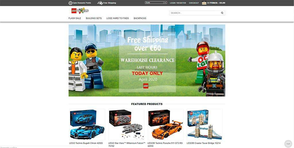 Toywhs.com Tienda Online Falsa Productos Lego