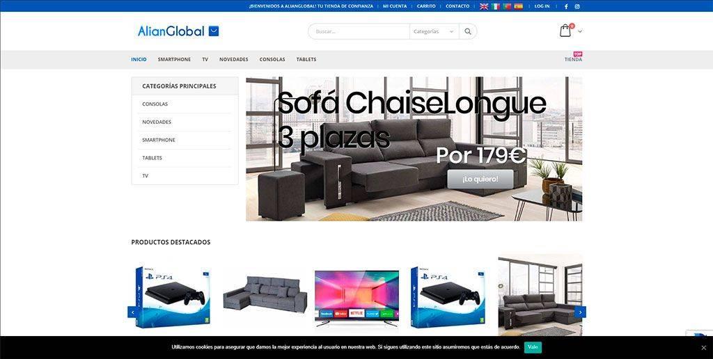 Alianglobal.com Tienda Online Falsa Electronica Mueblesw