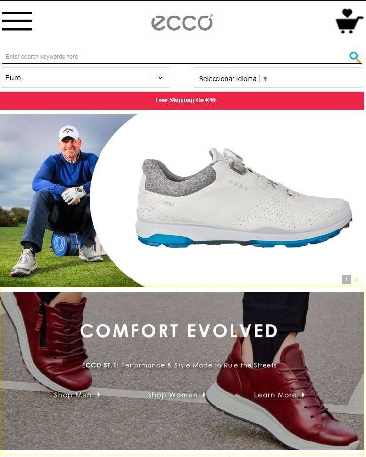 Eccostores.com Tienda Online Falsa Calzado Ecco