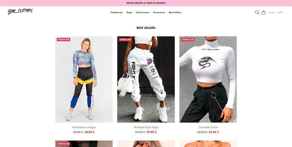 Gyalclothes.com Tienda Online Falsa Moda