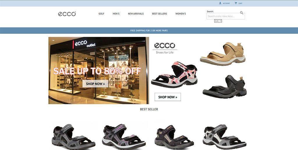 Eccoeustore.com Tienda Online Falsa Calzado Ecco