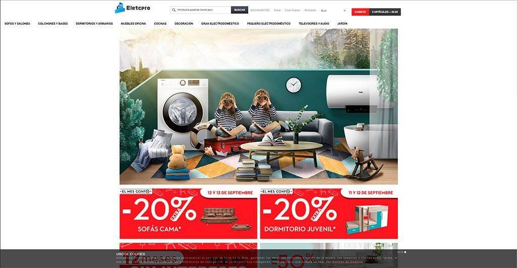 Eletcpro.com Tienda Online Falsa Muebles Electrodomesticos