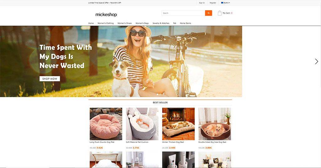 Mickeshop.com Tienda Online Falsa Multiproducto