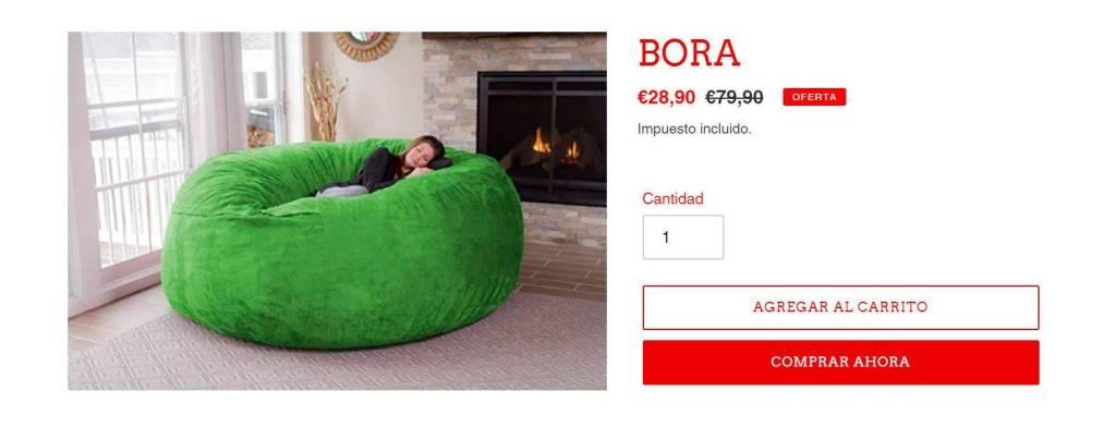 Bora Puf.com Tienda Online Falsa