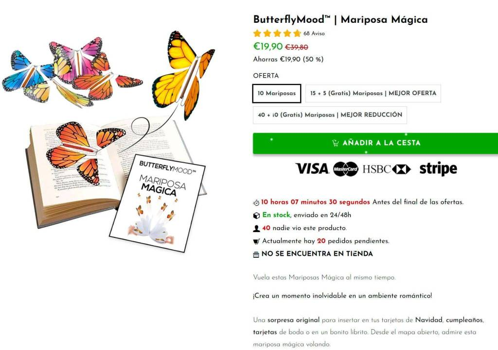 Butterflymood.com Tienda Online Falsa