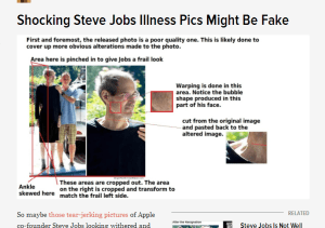 Shocking Steve Jobs Illness Pics Might Be Fake