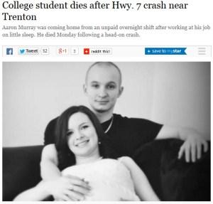 College student dies after Hwy. 7 crash near Trenton - Toronto Star 2014-04-10 12-49-18