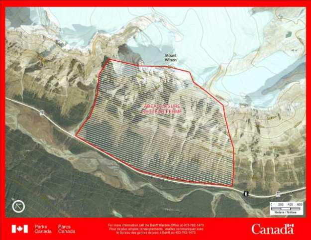 Parks Canada 2015 closure of Mount Wilson