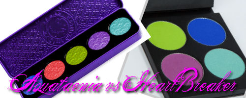 Go Compare – Sugarpill's Heartbreaker palette vs Lime Crime's Aquatænia Palette